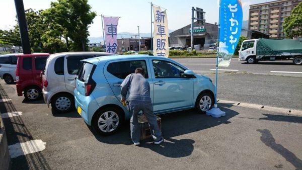 ミライース洗車